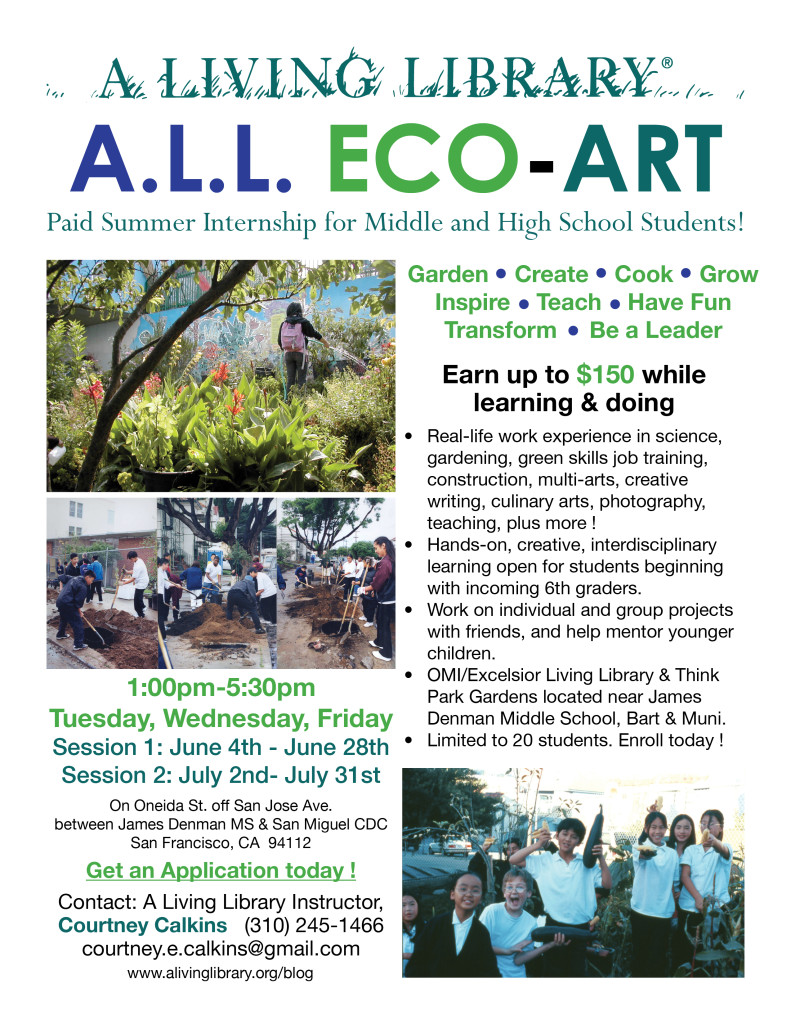 A.L.L. ECO-ART Internship Flyer