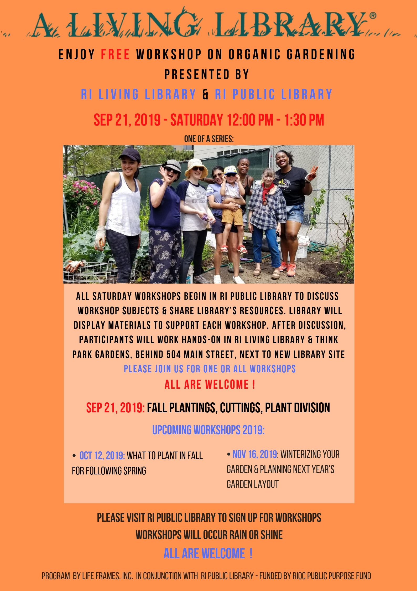 Free Organic Gardening Workshop by RI Living Library