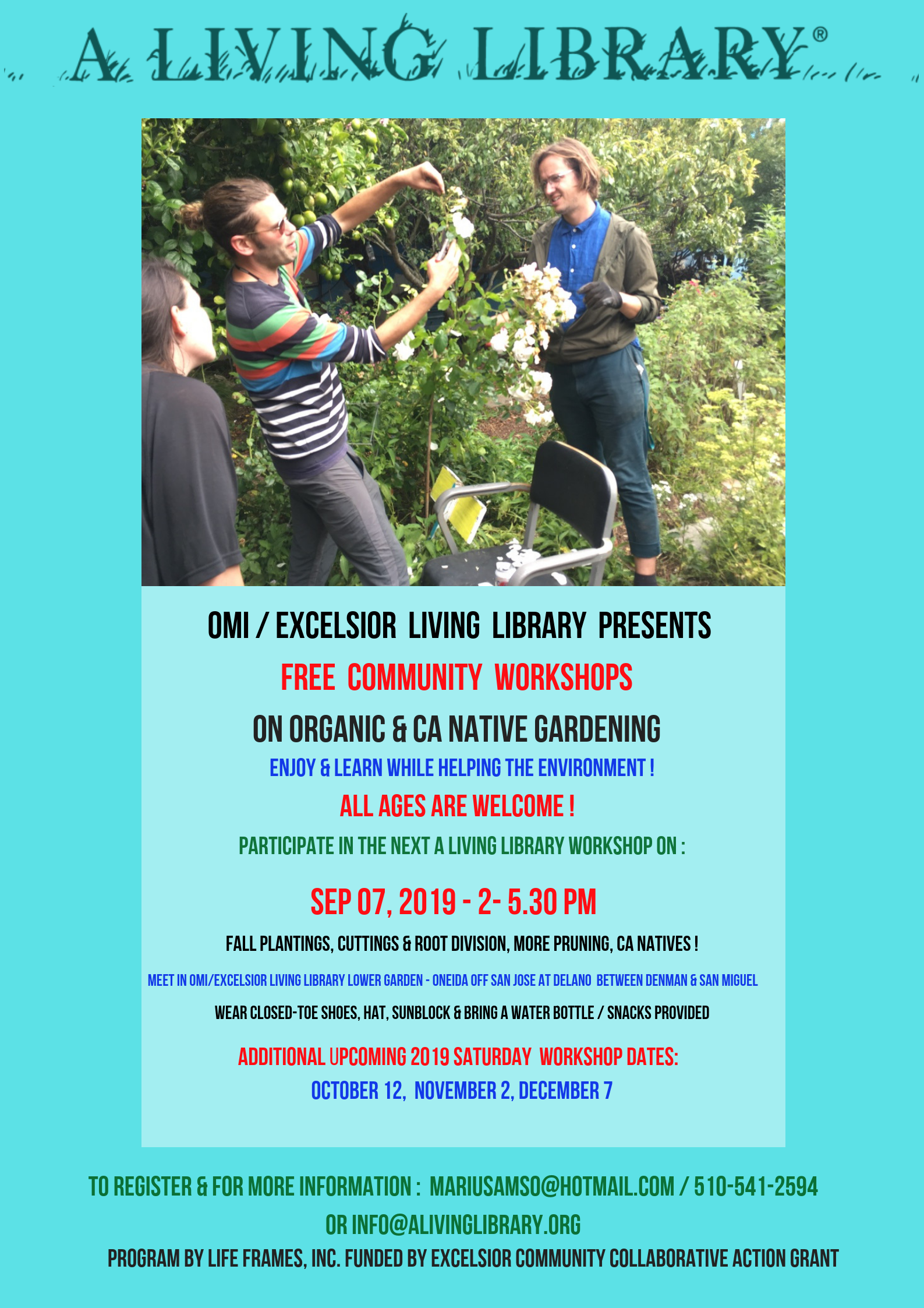 FREE Organic Gardening & CA Native Workshop